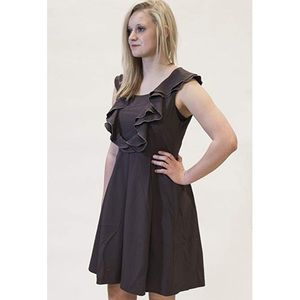 A'reve Ruffled Down Front Dress in Grey size Med
